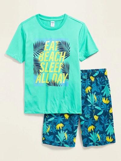 Graphic Pajama Short Set