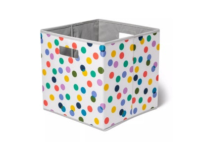 Pillowfort KD Bin With Multicolored Dots