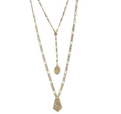 Women's Ancient Feelings Layered Necklace Set in Gold, One Size