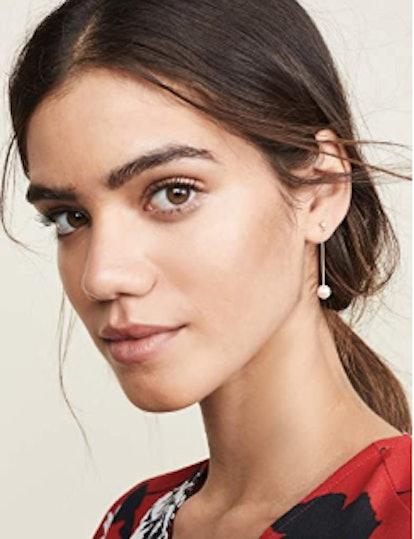 Women's 14k Gold Bar Diamond Mobile Earrings
