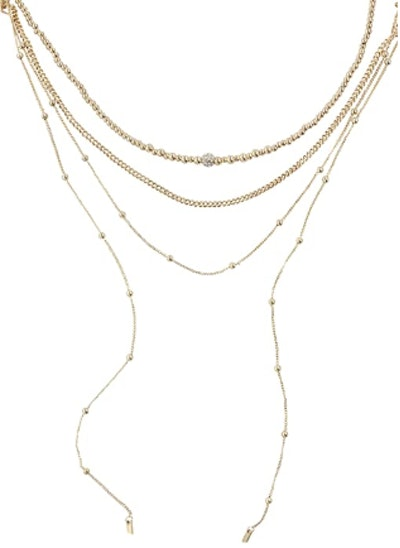 Gold Plated Sophisticated Strands Necklace Set
