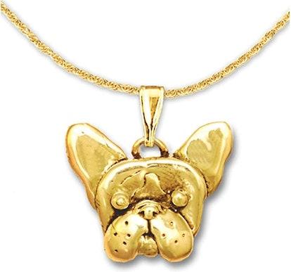 18k Gold French Bulldog Pendant