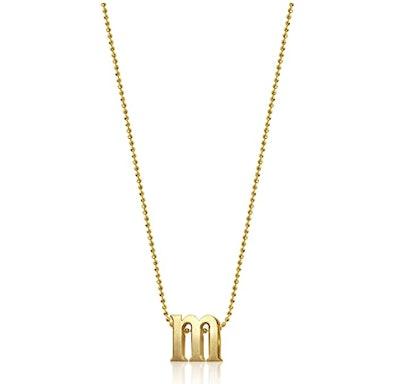 """Little Letters"" 14k Yellow Gold Pendant Necklace"