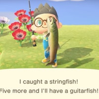 'Animal Crossing: New Horizons' Stringfish location, how to catch for 15K bells
