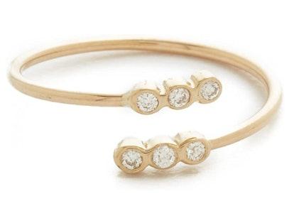 Women's 14k Bezel Diamonds Ring