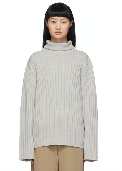 Grey Oversized Cannes Turtleneck