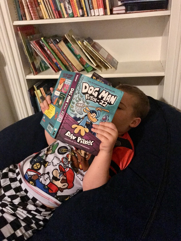 Kids can entertain themselves by reading while stuck at home practicing social distancing.