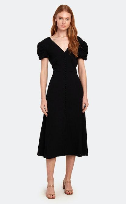 Margot Puff Sleeve Midi Dress