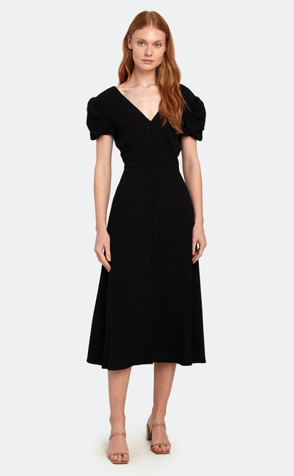 Margot Puff Sleeve Midi Dress