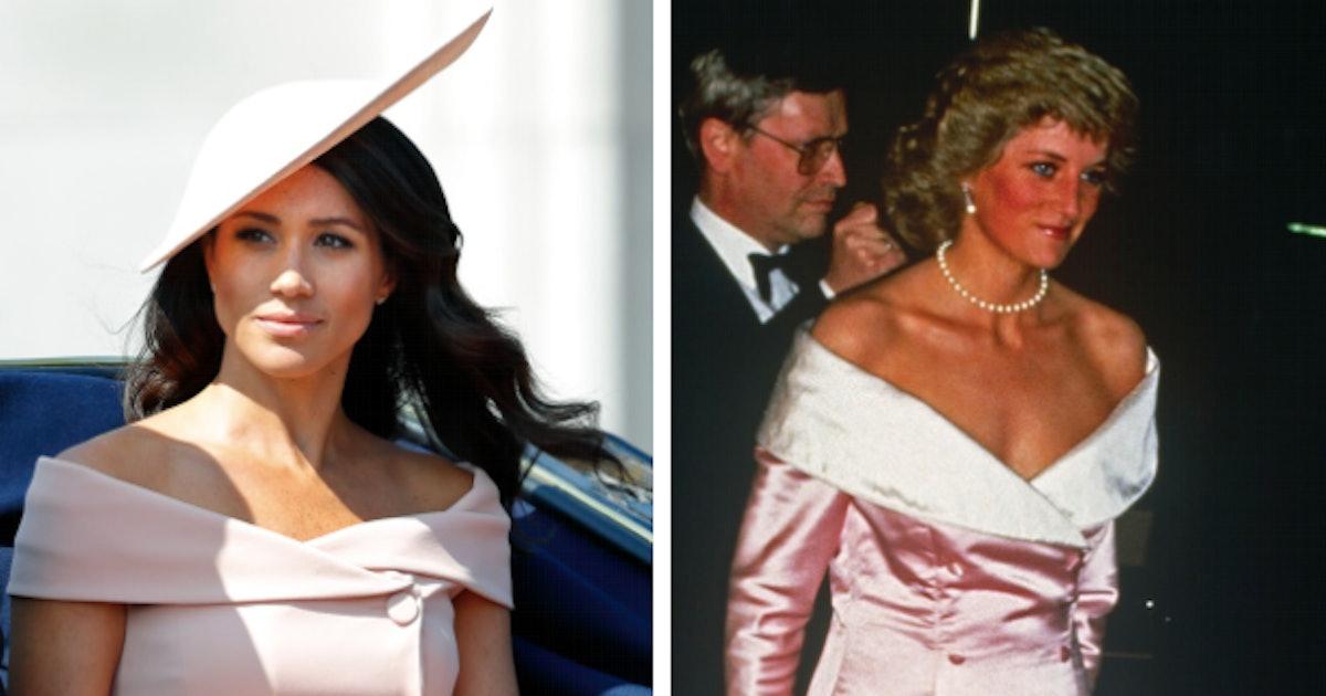 12 Times Meghan Markle Dressed Just Like Princess Diana