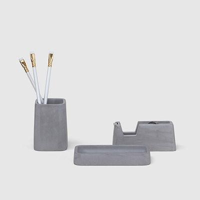Concrete Desk Set