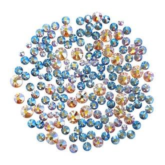 Swarovski Round Flatback Rhinestone Value Mix / Crystal AB
