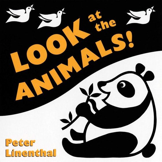 'Look At The Animals' Board Book By Peter Linenthal