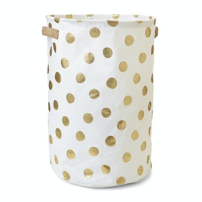 Collapsible Hamper in Gold Spots