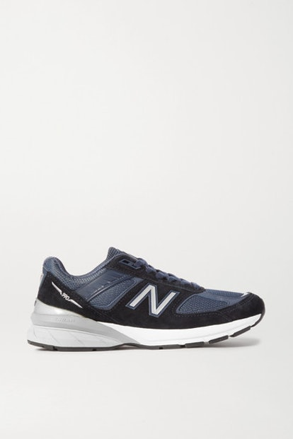 990v5 Suede, Mesh & Leather Sneakers