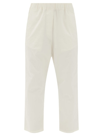 Casablanca Cropped Cotton-Blend Twill Trousers