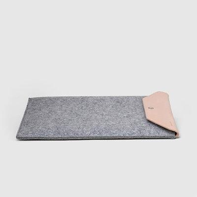 Merino Wool & Leather Laptop Sleeve
