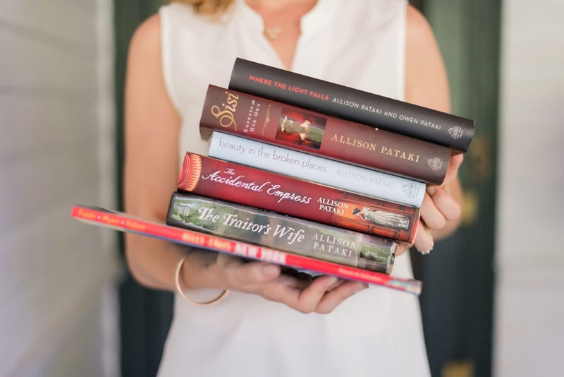 Stack of Allison Pataki books