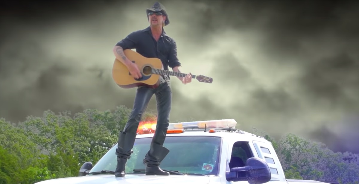 Joe Exotic in a music video