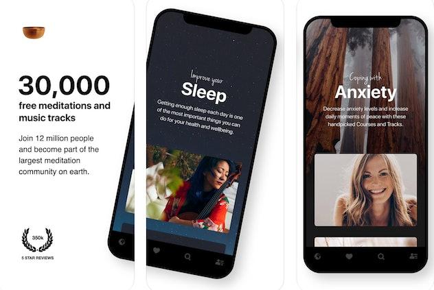 Insight Timer is a free pregnancy meditation app