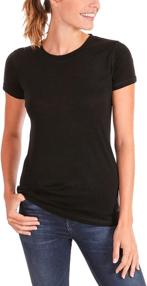 Woolly Clothing Co. Women's Merino Wool Flex Crew Neck Tee Shirt