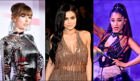 Taylor Swift, Kylie Jenner and Ariana Grande.