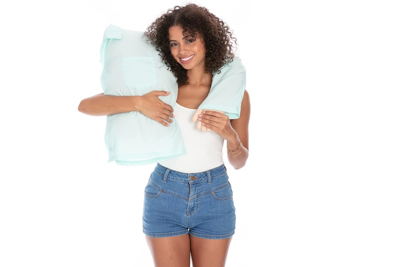 Boyfriend pillow and other body pillows to keep you comfortable while you sleep.