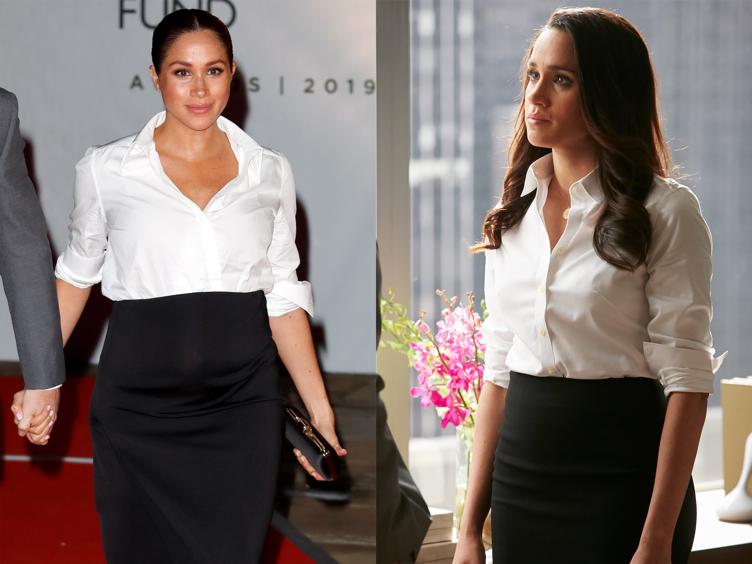 meghan markle her suits character have these outfit formulas in common meghan markle her suits character