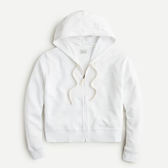 Cropped hoodie in vintage cotton terry