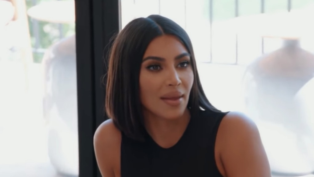 A screenshot from the video of Kim Kardashian questioning Kendall Jenner's work ethic.