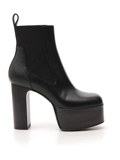 Heel Platform Chelsea Boots