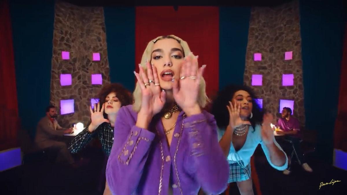 """Dua Lipa appears in the """"Break My Heart"""" video,"""