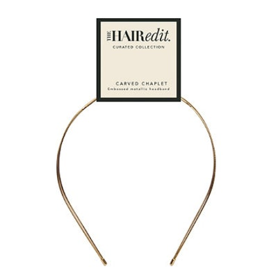 Gold Embossed Metallic Headband