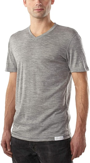 Woolly Clothing Men's Merino Wool V-Neck Tee Shirt