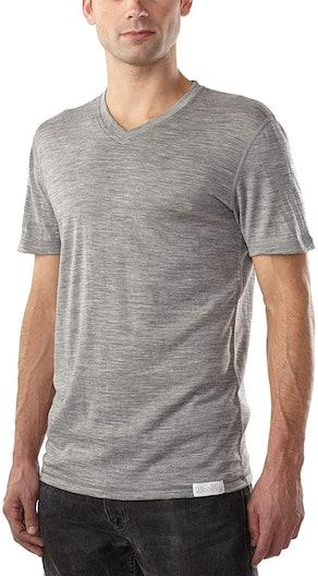 Woolly Clothing Men's Merino Wool V-Neck Tee Shirt