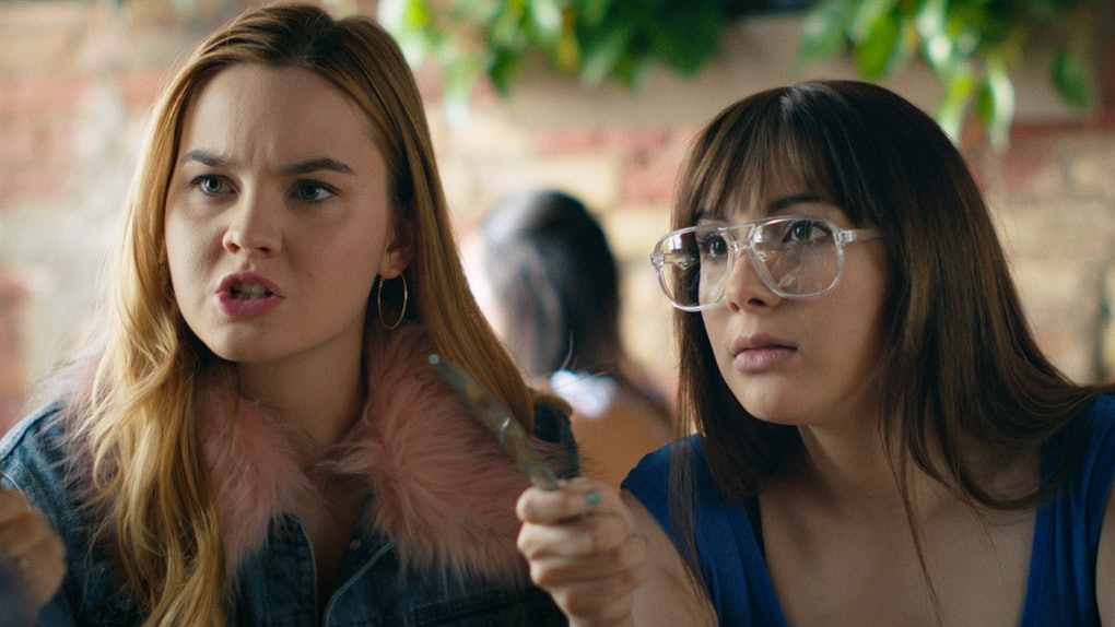 """(L - R) Liana Liberato as Clara and Hannah Marks as April in the comedy, """" BANANA SPLIT ,"""" a Vertical Entertainment release. Photo courtesy of Vertical Entertainment"""