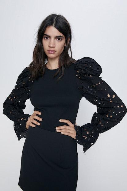 Combination Sleeve Sweater