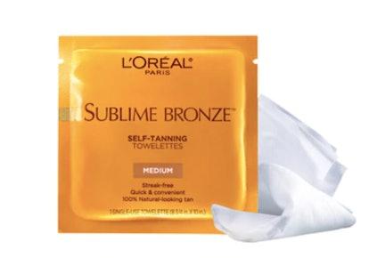 Sublime Bronze Self-tanning Towelettes, Medium Natural Tan