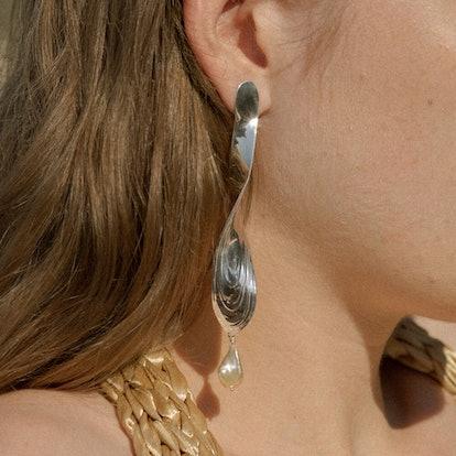Sterling Silver Torque Earrings
