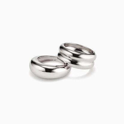 Domed Ridge Ring Set