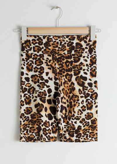 & Other Stories Leopard Cycling Shorts