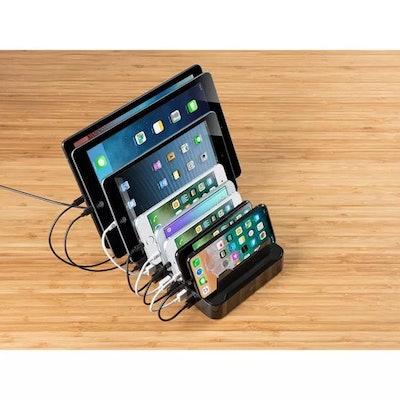 8-Port USB Smart Charger Station