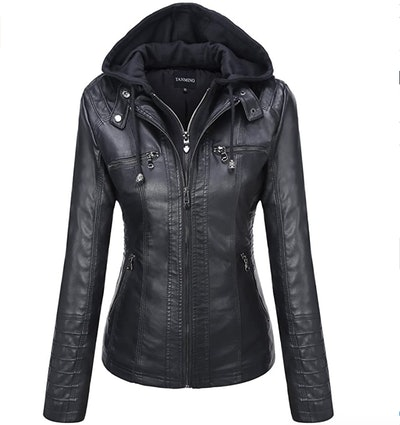 Tanming Faux Leather Jacket