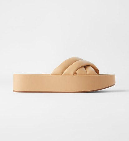 Quilted Platform Leather Sandals