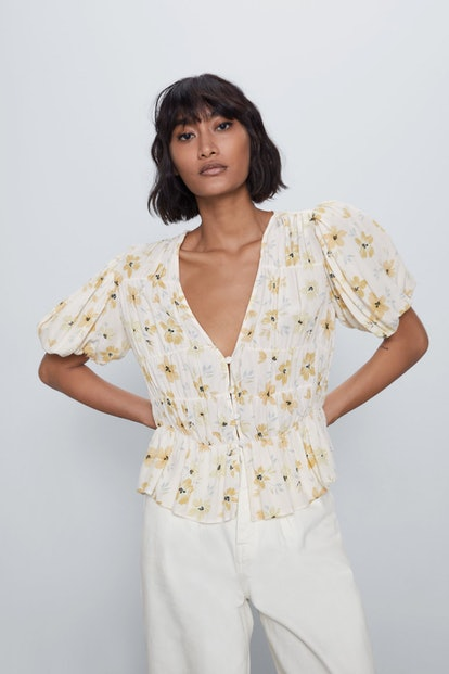 Voluminous Printed Shirt