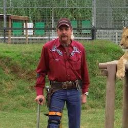 Joe Exotic and a big cat 'Tiger King'