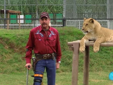 Joe Exotic and a big cat 'Tiger King'