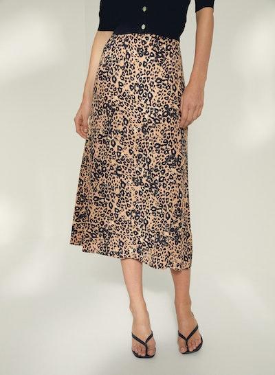 Aritzia Wilfred Leopard Midi Skirt