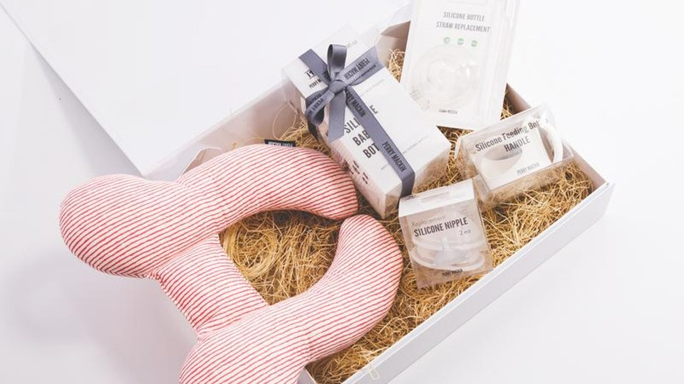 The Baby Gift Arrival Set from Perry Mackin
