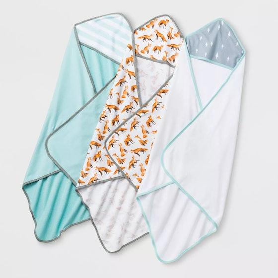 Cloud Island Hooded Towel 3-Pack
